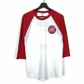 ザ フラットヘッド THE FLAT HEAD GLORY バックプリント 七分袖 Tシャツ カットソー 白 赤 M メンズ 【中古】【ベクトル 古着】 181123 VECTOR×Refine