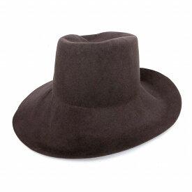 レナードプランク REINHARD PLANK レイヤード アシンメトリー 中折れ ワイドブリムハット 帽子 STREGA P/L01 ブラウン 茶 M col.065 6589972076 メンズ 【中古】【ベクトル 古着】 181223 VECTOR×Refine