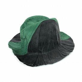 レナードプランク REINHARD PLANK シワ加工 バイカラー 中折れ ハット 帽子 FRANCESCO CTAP グレー×グリーン 緑 SIZE 11 L 6589982018 col.922 メンズ 【中古】【ベクトル 古着】 190210 VECTOR×Refine