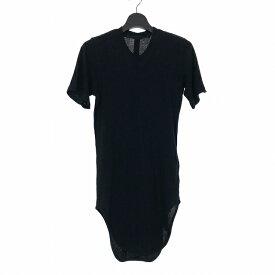 【中古】ユリウス JULIUS 18SS ラウンドテール カットソー Tシャツ WEBBING ROUND T-SHIRT 半袖 1 ブラック 黒 617CUM29 メンズ 【ベクトル 古着】 190817 VECTOR×Refine