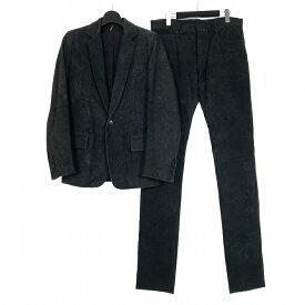 【中古】ディオールオム Dior HOMME デストロイレザー セットアップ スーツ ジャケット パンツ 牛革 46 48 ブラック 黒 3HH5021002 3HH5018002 メンズ 【ベクトル 古着】 190922 VECTOR×Refine