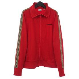 【中古】バーバリー BURBERRY サイドストライプ トラックジャケット ロゴ刺繍 ジップアップ XL 赤 レッド 8009241 メンズ 【ベクトル 古着】 200217 VECTOR×Refine