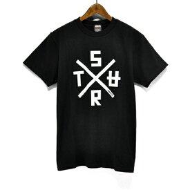 SURT サート 半袖 クロス ロゴ プリント Tシャツ 922-SURT8 S/S TEE mens メンズ ladys レディース ユニセックス シンプル トップス カジュアル サーフ スケボー スケーター スケート ストリート アメカジ 通販 ONEITA オニータ ボディー使用