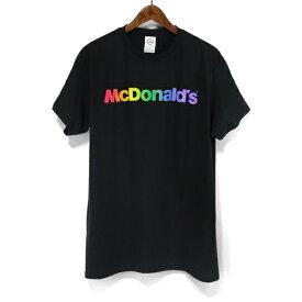 McDonald's マクドナルド レインボー ロゴ Tシャツ MC Rainbow T-SHIRT マック マクド プリント Tシャツ S/S TEE 半袖 T ショートスリーブ mens メンズ ladys レディース ユニセックス トップス 定番 通販 ストリート アメカジ スケート スケボー オフィシャル Tシャツ