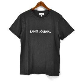 バンクス BANKS Tシャツ ラベル 半袖 Tシャツ ATS0369 LABEL STAPLE TEESHIRT シンプル ロゴプリント S/STEE シンプル クルーネックTシャツ mens メンズ 男性用 オーガニックコットン100% ショートスリーブTシャツ アメカジ ストリート サーフブランド