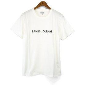 バンクス BANKS Tシャツ ラベル 半袖 Tシャツ ATSL01 LABEL STAPLE TEESHIRT シンプル ロゴプリント S/STEE シンプル クルーネックTシャツ mens メンズ 男性用 オーガニックコットン100% ショートスリーブTシャツ アメカジ ストリート サーフブランド