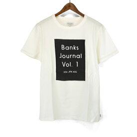 バンクス BANKS JOURNAL Tシャツ 半袖 Tシャツ ATS0345 LOVCKED TEESHIRT シンプル ロゴプリント S/STEE シンプル クルーネックTシャツ mens メンズ 男性用 オーガニックコットン100% ショートスリーブTシャツ アメカジ ストリート サーフブランド