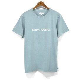 バンクス BANKS Tシャツ ラベル 半袖 Tシャツ ATS0368 LABEL STAPLE TEESHIRT シンプル ロゴプリント S/STEE シンプル クルーネックTシャツ mens メンズ 男性用 オーガニックコットン100% ショートスリーブTシャツ アメカジ ストリート サーフブランド