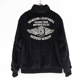 VANSON バンソン ボア リバーシブル ジャケット 2Way ナイロン ジャケット JKT nvsz-912 ヴァンソン フライングホイール バック 刺繍 袖 プリント ワッペン 裏ボア アウター ジャケット アメカジ バイカー ストリート 大きいサイズ ビッグサイズ XXL 2XL 3L☆送料無料