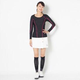 【SALE】スキンズ ロングスリーブTシャツ レディース 全1色 XS/S/M/L SKINS 女性 DNAMIC ゴルフウェア かわいい オシャレ 大きいサイズ レジャー コース 秋 冬