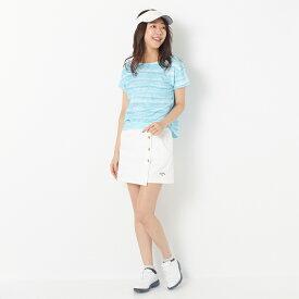 【SALE】スキンズ Tシャツ レディース 全3色 M/L SKINS 女性 ゴルフウェア かわいい オシャレ 大きいサイズ レジャー コース 秋 冬
