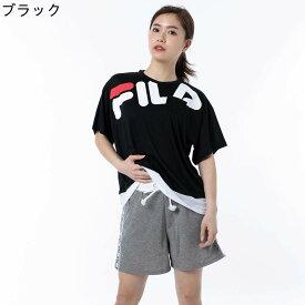 【ポイント10倍】【FILA (フィラ)】切替Tシャツ4点セット 3色展開:ブラック/グリーン/ホワイト サイズ:7号/9号/11号/13号