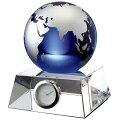 GLASSWORKSNARUMIブルーアースデスククロック(M)11cm画像