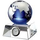 GLASS WORKS NARUMI (鳴海製陶)ブルーアース デスククロック(M) 11cm【楽ギフ_名入れ】【楽ギフ_のし宛書】【楽ギ…