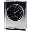 名入れ メッセージ彫刻 名入れ時計【退職記念 退職祝い】GLASS WORKS NARUMIノヴァ 電波時計卓上時計 置時計 ナルミ (鳴海製陶)