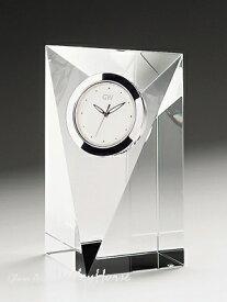 名入れ メッセージ彫刻 名入れ時計【退職記念 退職祝い】GLASS WORKS NARUMIプリズム クロック(M)卓上時計 置時計 ナルミ (鳴海製陶)セール