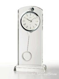 名入れ メッセージ彫刻 名入れ時計【退職記念 退職祝い】GLASS WORKS NARUMIセレナ ペンドラムクロック卓上時計 置時計 ナルミ (鳴海製陶)【送料無料】売れ筋セール