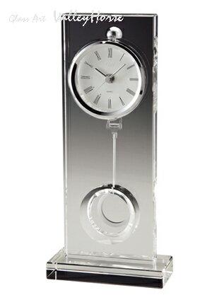 名入れ メッセージ彫刻 名入れ時計【退職記念 退職祝い】GLASS WORKS NARUMIウィンドウ ペンドラムクロック卓上時計 置時計 ナルミ (鳴海製陶)【送料無料】