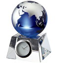 名入れ メッセージ彫刻 名入れ時計【退職記念 退職祝い】GLASS WORKS NARUMIブルーアース デスククロック (S)卓上時計 置時計 ナ…