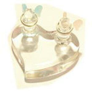 天使 が可愛い!! ガラス リングピロー結婚指輪 ペアリング の パートナー ♪ブライダル 記念品 プレゼント 結婚式 にどうぞ!!リングスタンド ハート