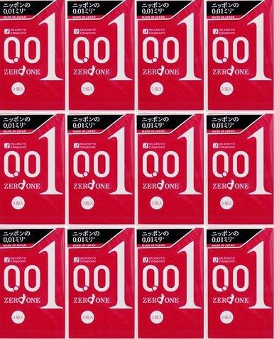 【送料無料】【即納】オカモトゼロワン 0.01 3個入り×12箱セット(36回分)【ヘビーユーザー感射セット】【1箱あたり666円】