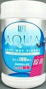 アルコール除菌ウエットティッシュ アクア ネオ ソフトウェットティッシュ 100枚入り (ボトルタイプ)