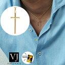 【ファッション誌掲載】VJ【ブイジェイ】 K18 イエローゴールド メンズ A.R クロス ペンダント キヘイチェーンセッ…
