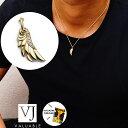【ファッション誌に掲載】K18 イエローゴールド メンズ ダイヤモンド0.03ct フェザー ペンダントチェーンセット※チ…