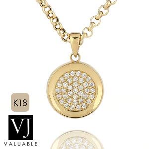 【ファッション誌に掲載】VJ【ブイジェイ】K18 イエローゴールド メンズ レディース クラッシュド ダイヤモンド コイン ペンダント※ペンダントのみ【18金 18k ネックレス 硬貨 メダル