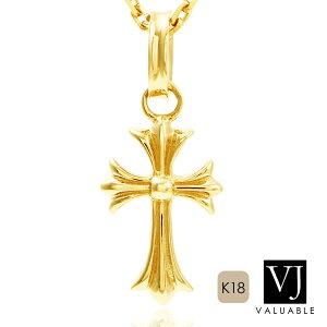 K18 メンズ イエローゴールド マイクロ ベイビー クロス ペンダント ※ペンダントのみ[k18 ネックレス 18k 人気 18金 シンプル アメリカ ハワイアン 小 十字架 デザイン  ブランド ス