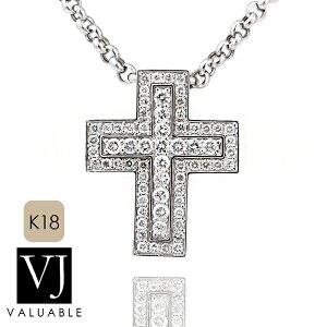 【ファッション誌に掲載】VJ【ブイジェイ】K18 ホワイトゴールド メンズ ダイヤモンド マグニフィコ クロス ペンダント※ペンダントのみ【18金 18k ネックレス 十字架 ハワイアン シンプル
