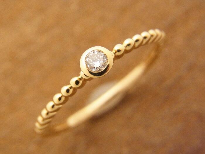 K18 イエローゴールド ダイヤモンド ロープデザイン リング [k18 18k 18金 指輪 ペア シンプル ]
