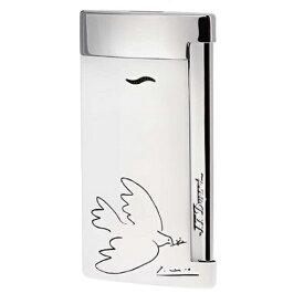 デュポン Dupont ライター スリム7 ホワイトラッカー 限定 ピカソ DOVE (平和の鳩) 027106 お取り寄せ10日