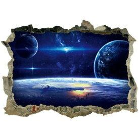 ウォールステッカー 宇宙 子供部屋 窓 地球 惑星 星 衛星 壁穴 シール 月 トイレ トリックアート 写真 お風呂 ステッカー レンガ 穴 インテリアシール 銀河系 太陽系 世界 星空 英字 3d 景色 宇宙船 人気 だまし絵 ikea 小さい ミニサイズ 風景 病院 彗星 大星雲 夜空 青い