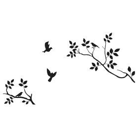 ウォールステッカー 木 おしゃれ 花 北欧 植物 モノトーン カフェ モダン 鳥 モノクロ 黒 色 窓 キッチン 扉 収納 ガーデニング 大きな木 壁飾り 造園 綺麗な色 壁紙 シール トイレ インテリア 観葉植物 ポスター インテリア 雑貨 玄関 壁飾り 葉 はがせる 病院 シンプル