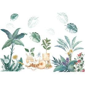 ウォールステッカー 植物 おしゃれ 海 花 木 南国 ヤシの木 グリーン ステッカー 猫 ヤシの葉 カフェ モダン モンステラ トロピカル リーフ ハワイアン 雑貨 緑 サーフ 西海岸 壁紙シール アロハ キッチン トイレ 夏 ビーチ インテリア かわいい ハワイ 観葉植物 葉 葉っぱ