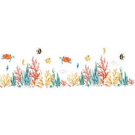 ウォールステッカー 動物 海 子供部屋 魚 お風呂 子供 おしゃれ 壁紙 風景 窓 亀 青い 海底 海の中 ブルー かわいい シール 鯨 癒し系 サンゴ礁 フィッシュ 波 月 浴室 バスルーム 景色 diy 水族館 迫力 大きい 簡単 階段 廊下 魚群 珊瑚礁 貝殻 貝 タツノオトシゴ 海藻