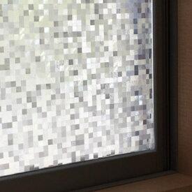 窓 目隠し シート 窓ガラスフィルム 【水だけ簡単に貼れる】 おしゃれ モザイク ガラスシート シール 厚手 浴室 ステンドガラス 目隠しフィルム 目隠しシート モダン レトロ シール 断熱 窓用 出窓 腰窓 綺麗 かわいい インテリア カフェ 半透明 キラキラ 光る 日よけ