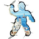 ウォールステッカー 窓 海 子供部屋 カフェ モダン 南国 ビーチ トリックアート 子供 植物 子ども 男の子 風景 お風呂 写真 ステッカー レンガ 穴 インテリアシール 英字 木 3d 世界地図 夏 専門店 ハワイ ウオールシール 海外 大きい サイズ 地中海 カリブ海 紅海 観光地 街