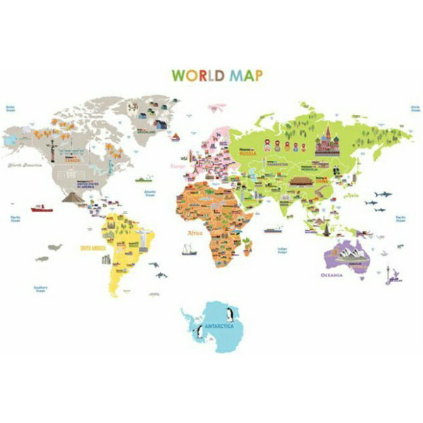 楽天市場】ウォールステッカー 世界地図の通販
