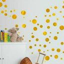 ウォールステッカー 子供部屋 ゴールド ドット ステッカー ダマスク 壁紙 3d ウォールシール キラキラ 記念日 誕生日 …