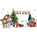 ウォールステッカー クリスマス サンタクロース クリスマスツリー サンタ トナカイ 飾り オーナメント 壁シール 星 雪 壁紙 装飾 雪だるま 雪ダルマ christmas プレゼント 雪の結晶 赤 緑 ガラス 飾り 鹿 シール ロウソク 窓 風景 子供部屋 かわいい diy 小さい ミニサイズ