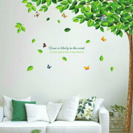 ウォールステッカー 木 ツリー 植物 おしゃれ 花 壁紙 北欧 大きな木 カフェ モダン ウォールシール 英字 英文 キッチン トイレ フラワー グリーン 葉 蝶 ディズニー ちょうちょ 鳥 大きい ウオールステッカー 緑 玄関 枝 壁に貼るシール かわいい diy ナチュラル 癒し