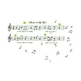 ウォールステッカー 音楽 楽譜 音符 鳥 シール モノクロ 黒 モノトーン かわいい キッチン インテリアシール 音楽室 リズム 指揮者 リビング ディズニー おしゃれ デコシール 風景 動物 寝室 窓 鏡 和風 公民館 譜面 英字 英文 記号 緑 鳥 教室 楽器 ピアノ 知育 教材