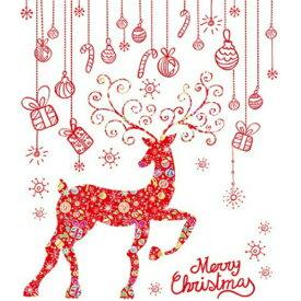 ウォールステッカー クリスマス サンタクロース ステッカー クリスマスツリー トナカイ オーナメント ガラス サンタ 北欧 壁シール 飾り 星 雪 壁紙 雪だるま 雪ダルマ 雪の結晶 冬 赤 鹿 キラキラ 植物 窓 景色 風景 子供 かわいい 店 装飾 玄関 デコレーション かざり diy