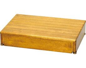 安寿 木製玄関台 1段タイプ 60W-40-1段 / 535-582 ライトブラウン アロン化成 1台 JAN4970210396803