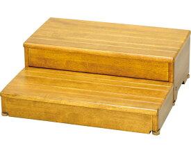 安寿 木製玄関台 2段タイプ 60W-30-2段 / 535-586 ライトブラウン アロン化成 1台 JAN4970210396827