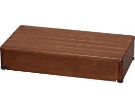 安寿 木製玄関台 1段タイプ 60W-30-1段 / 535-564 ブラウン アロン化成 1台 JAN4970210397565