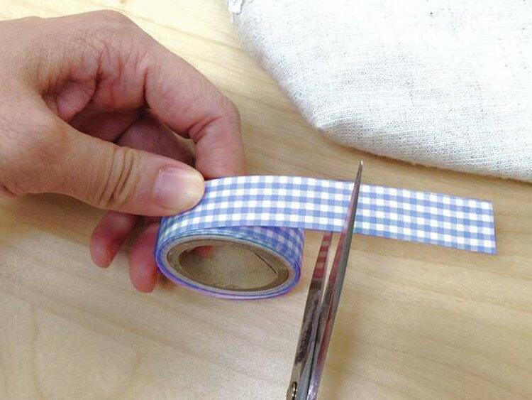 くるくるお名前テープ 1.5cm ブルーチェック JAN4972440113922