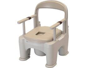 ポータブルトイレ 〈座楽〉ラフィーネ / PN-L30200BE 標準タイプ(プラスチック便座) ベージュ パナソニック エイジフリー 1台 JAN4549980380352